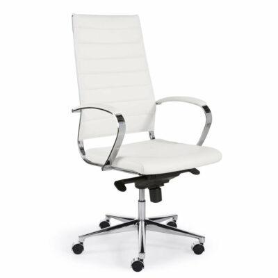 Bureaustoel KM013 hoge rug wit