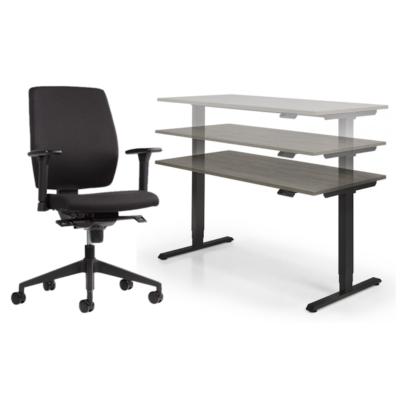 Thuiswerkplek 3 Elektrisch ActieLine + Basic bureaustoel